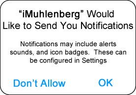 Permission to receive notifications