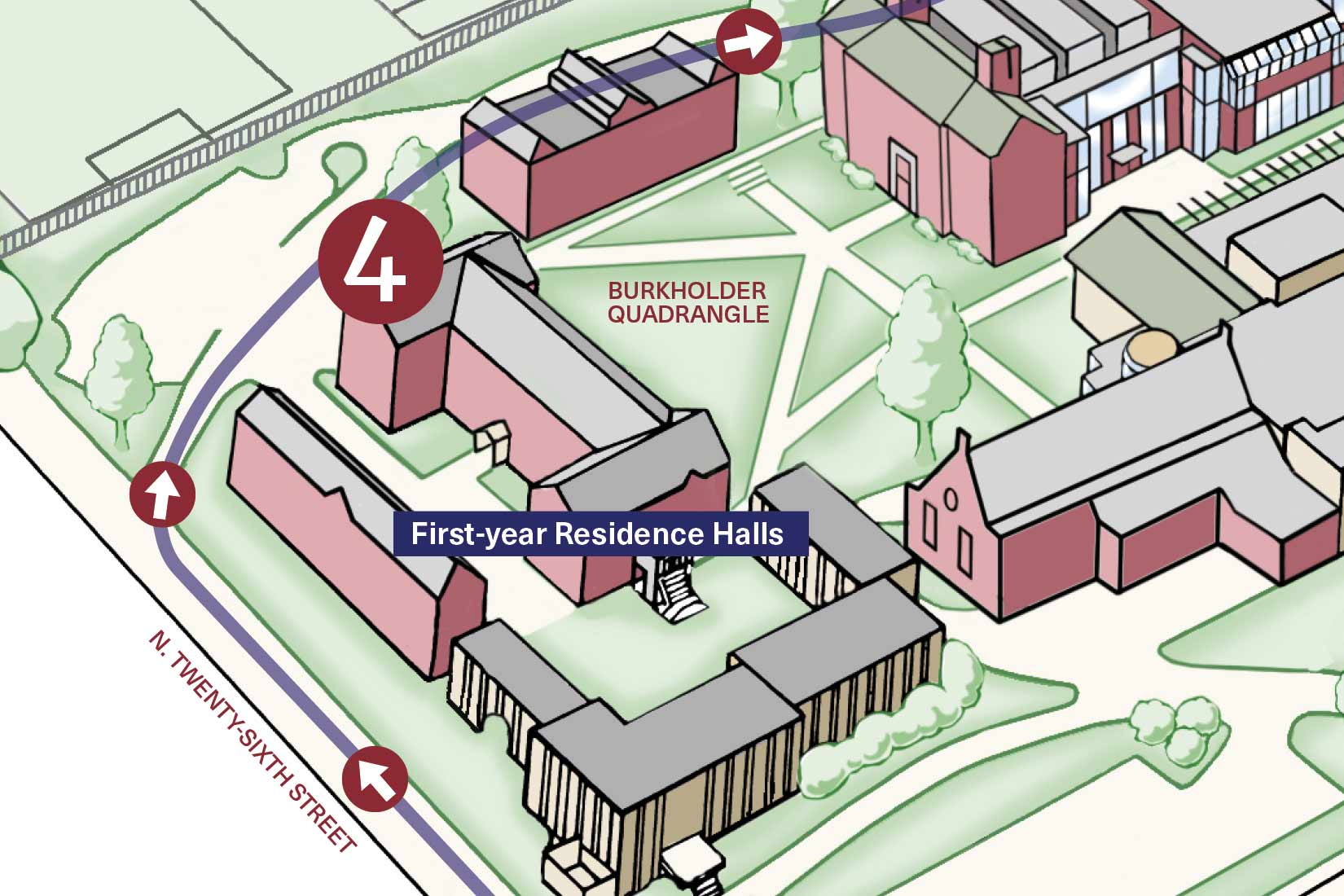 First-year Residence Halls driving tour stop