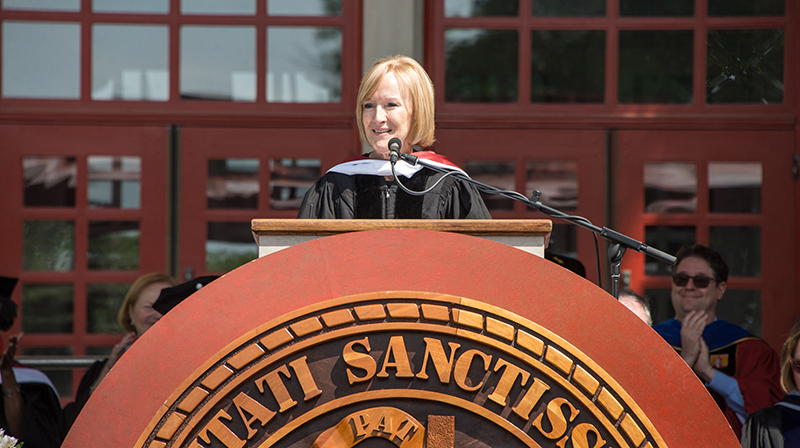 2017 Commencement - speaker Judy Woodruff