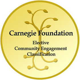 Image for Community Engagement Classification recertification by the Carnegie Foundation for the Advancement of Teaching
