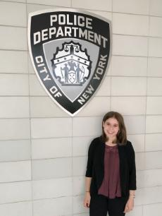Ashley Kemper - NYPD internship sign