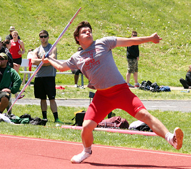 all american bauer throwing javelin