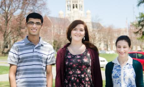 Jalal Khan '18, Alison Smith '17, Nicole Roth '16