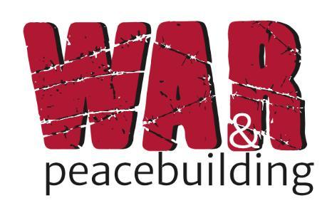 War and Peacebuilding logo