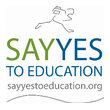 Logo for 2013 Say Yes to Education news article.