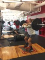 Women's Basketball Players doing Hang Cleans